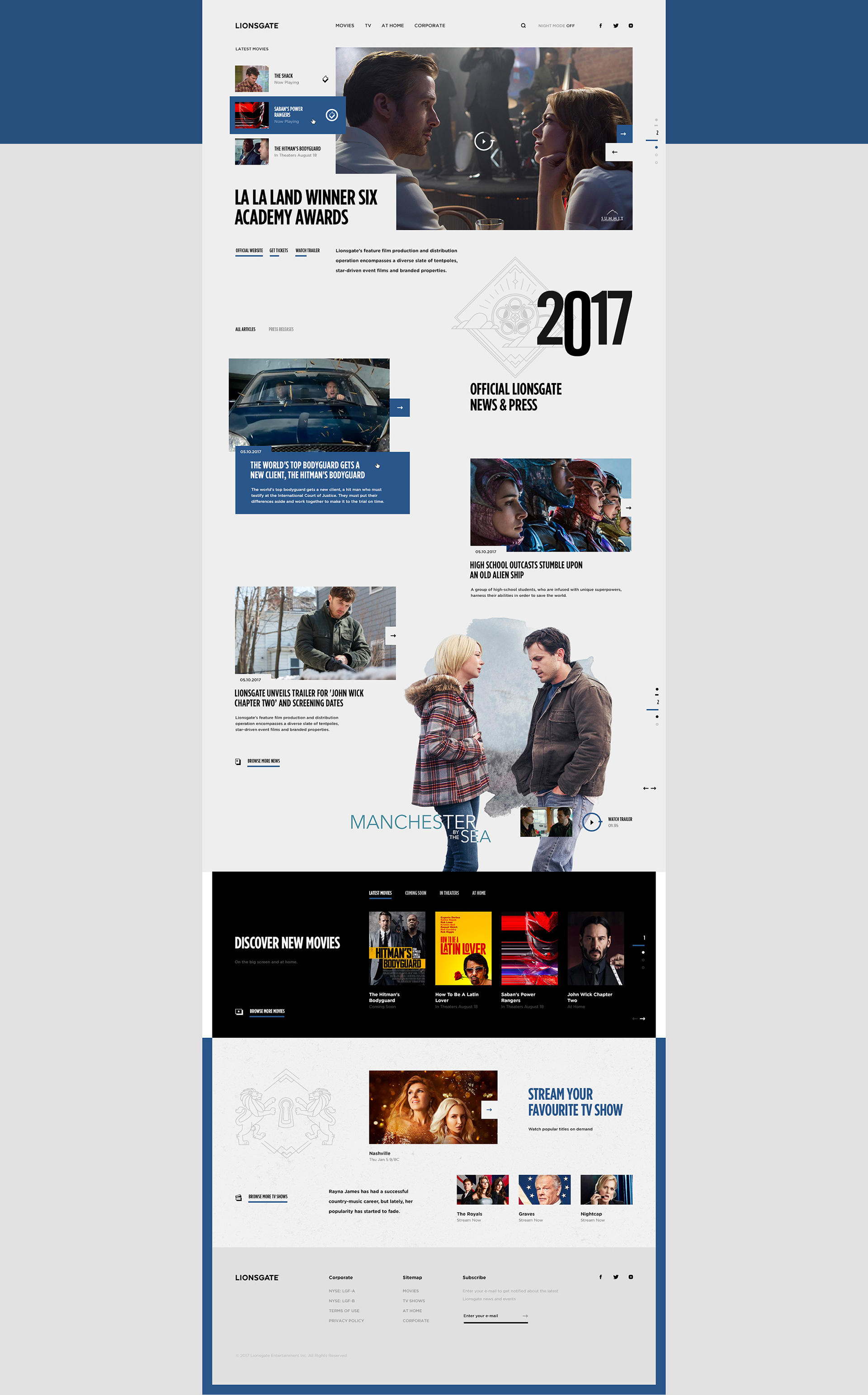 Web Design & UI/UX: Lionsgate Pitch Concept