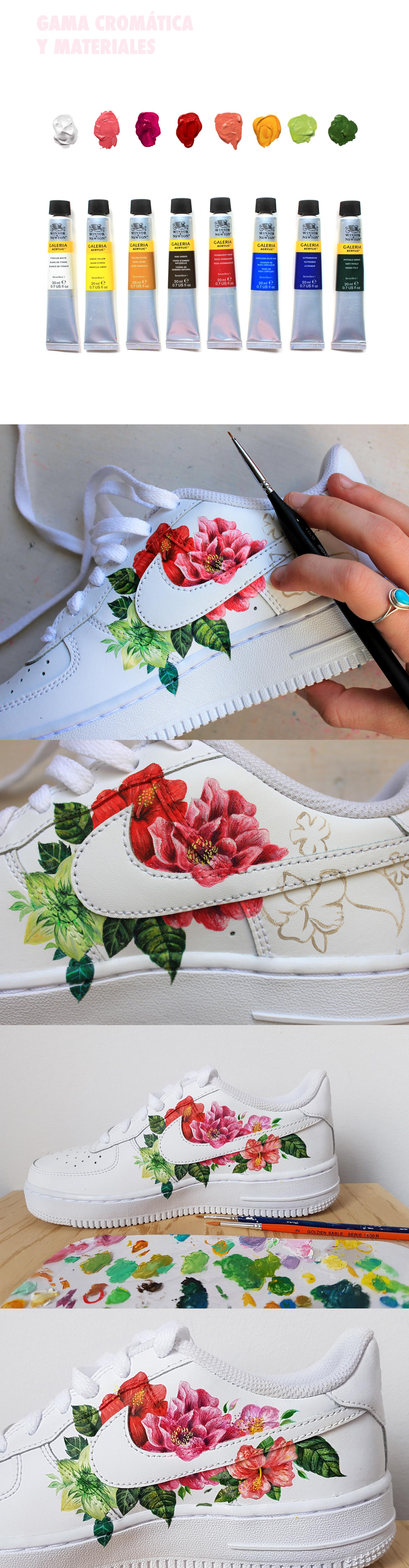 Custom Nike Air Force 1 'Si te vas'. on Behance in 2020