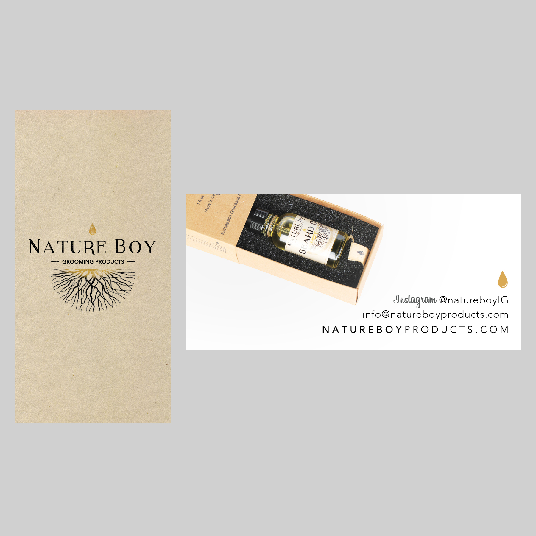 Nature Boy Grooming Products Logo/Branding & Website on Behance