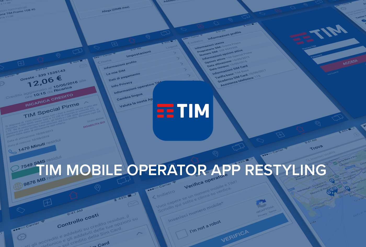 Ui Tim Mobile Operator App Restyling On Behance