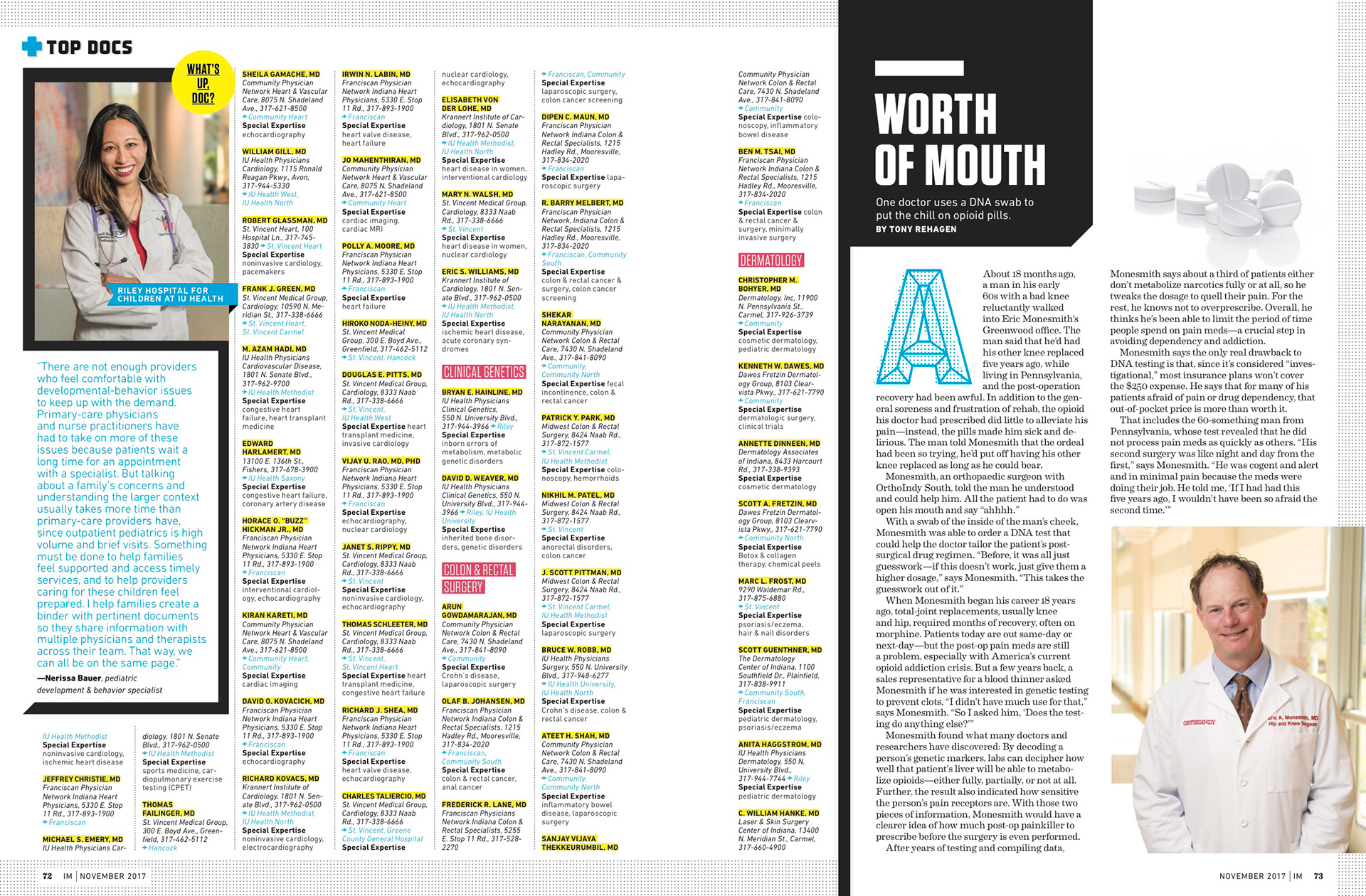 2017 TOP DOCS Indianapolis Monthly on Behance
