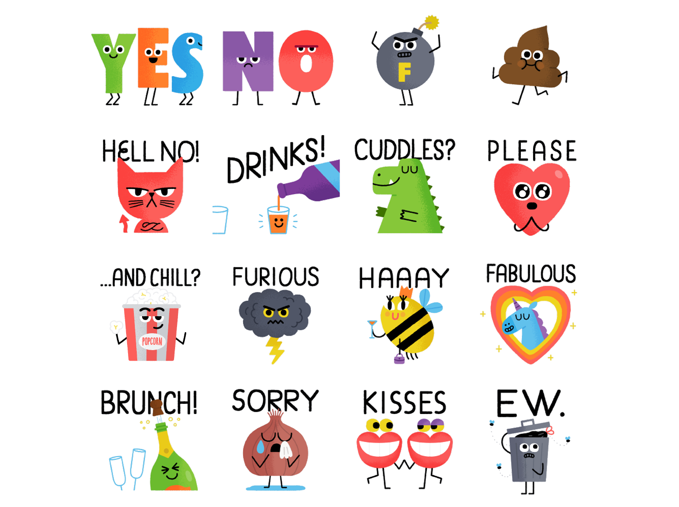 Kewe Animated Stickers Pack on Behance for Cute Animated Sticker  76uhy