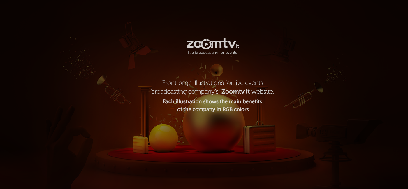 Zoomtv lt - front page illustrations - CGI on Behance