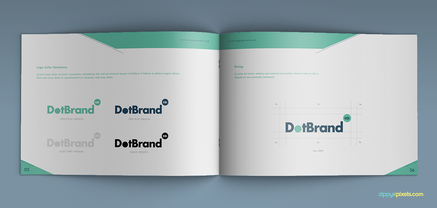 creative rich brand manual guidelines template on behance