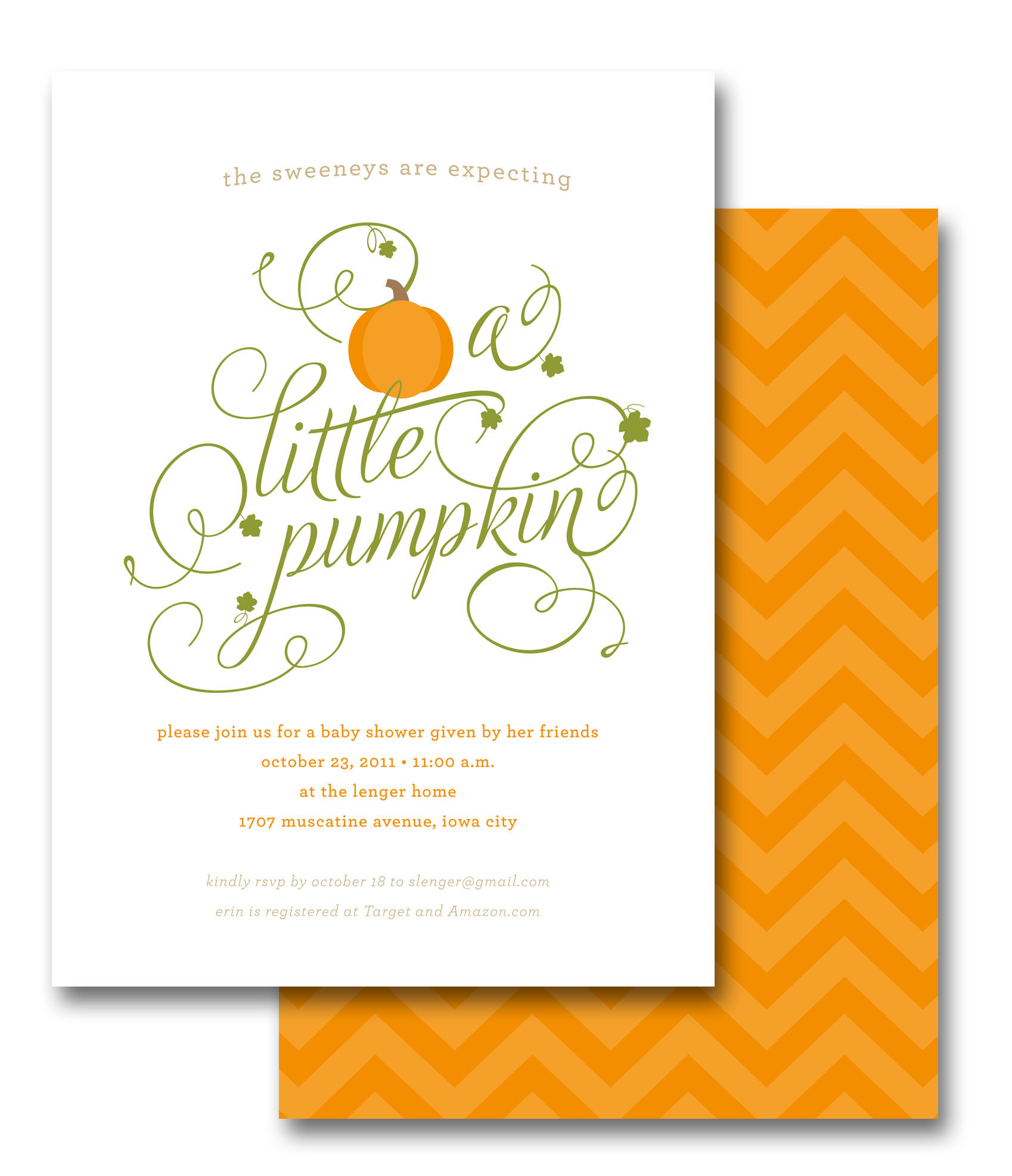 Sarah lenger little pumpkin baby shower invite little pumpkin baby shower invite filmwisefo
