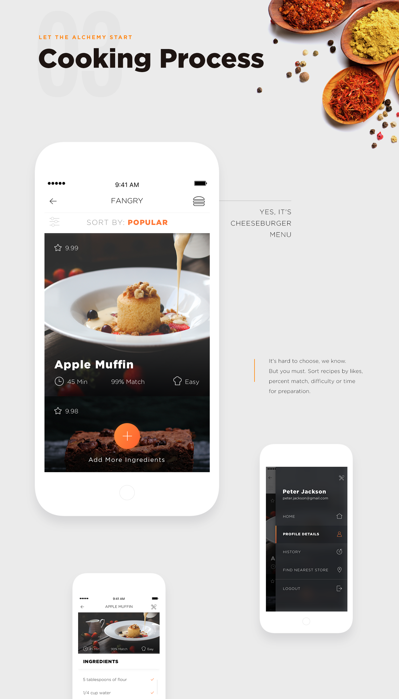 Fangry food mobile app on behance forumfinder Gallery
