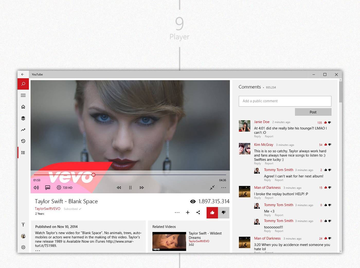 YouTube UWP for Windows - Concept on Behance