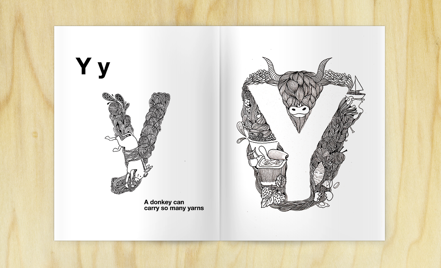 Line Drawing Yarn : Childphabet coloring doodle alphabet book on behance