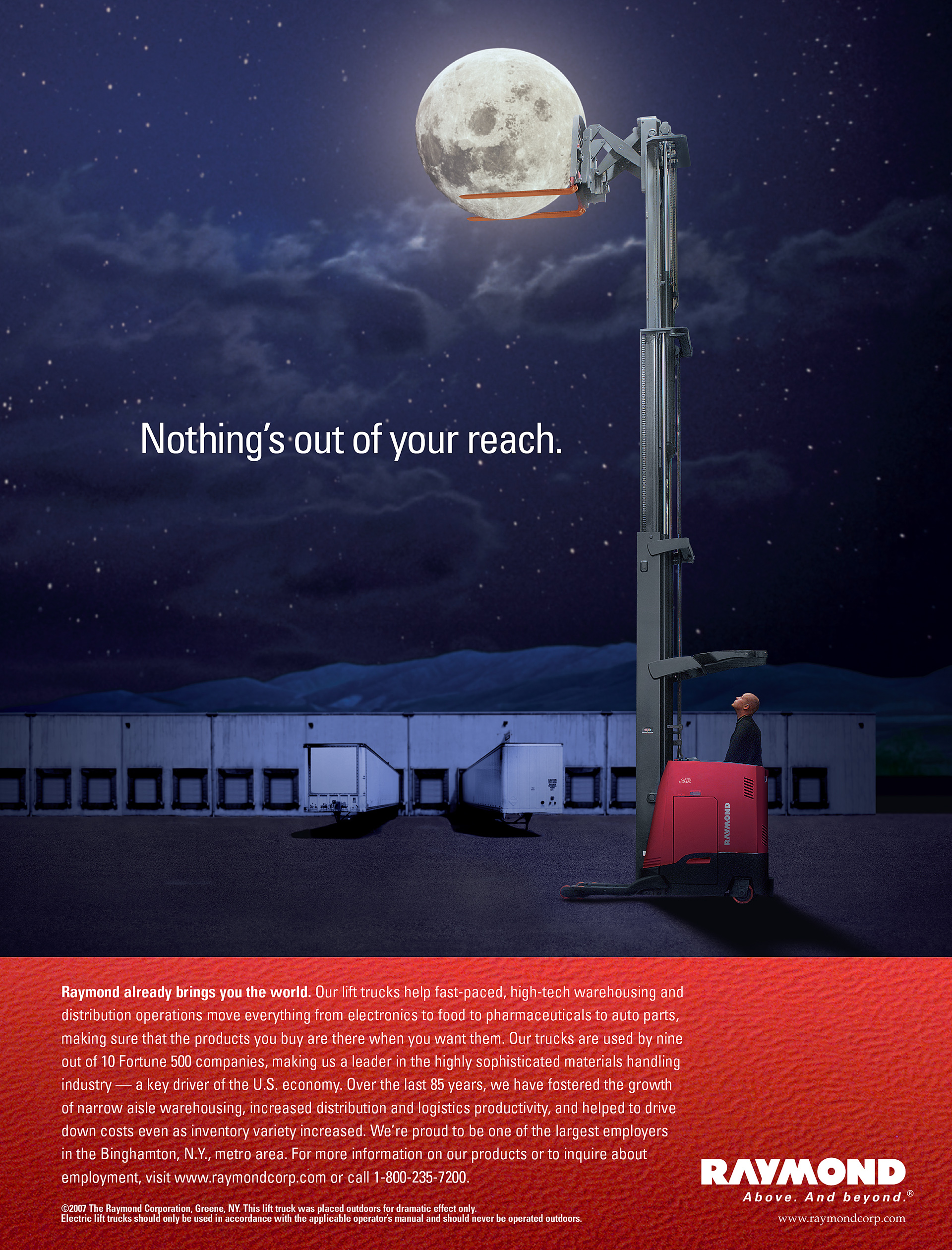 Raymond Lift Truck Brand Ad on Behance