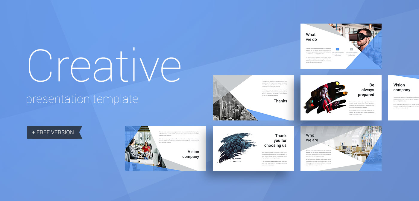 creative presentation template on behance