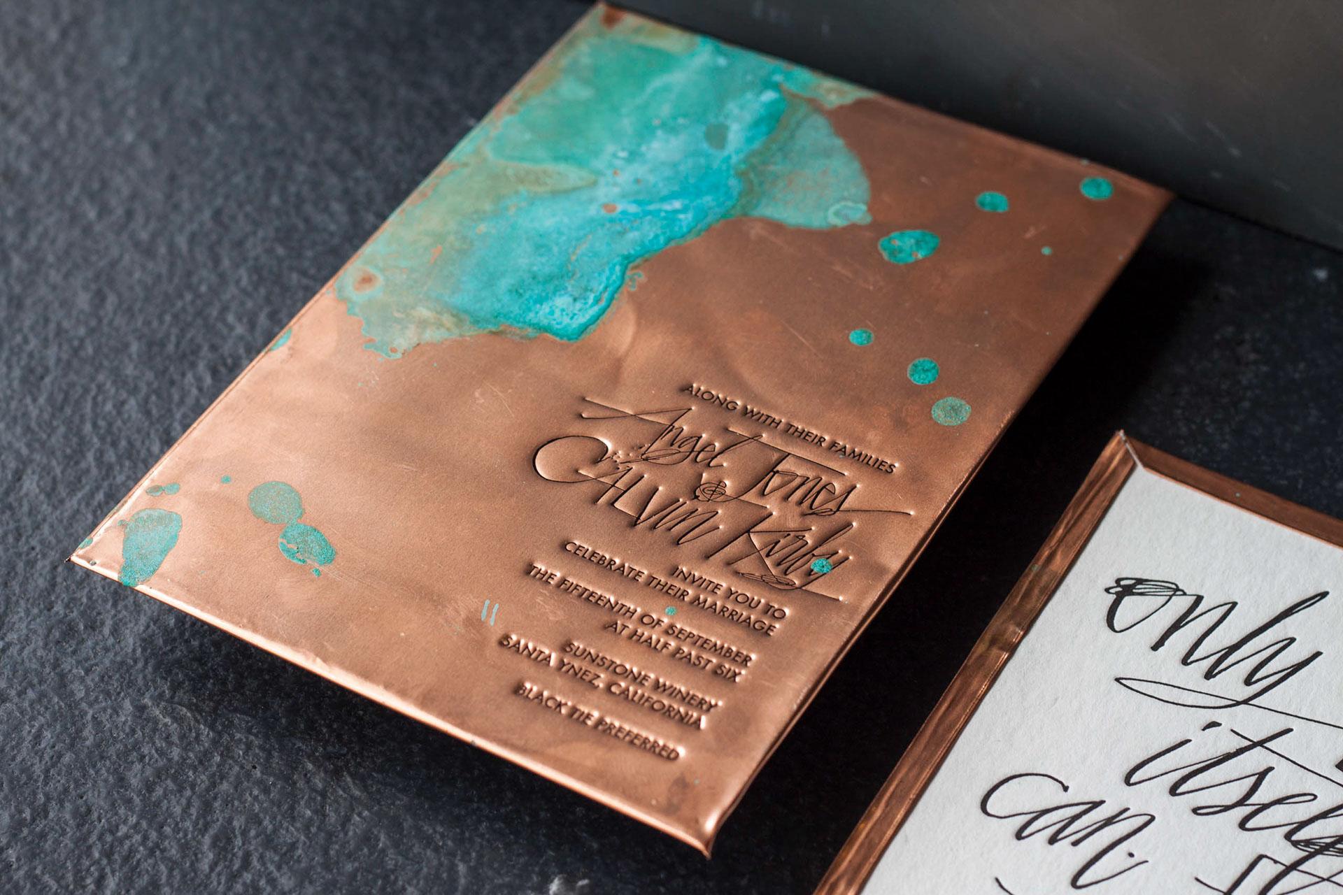 Copper Wedding Invitation Printable Template Copper Invitations Faux Copper Black Text 2018 Wedding Printable Printed Wedding Suite Set