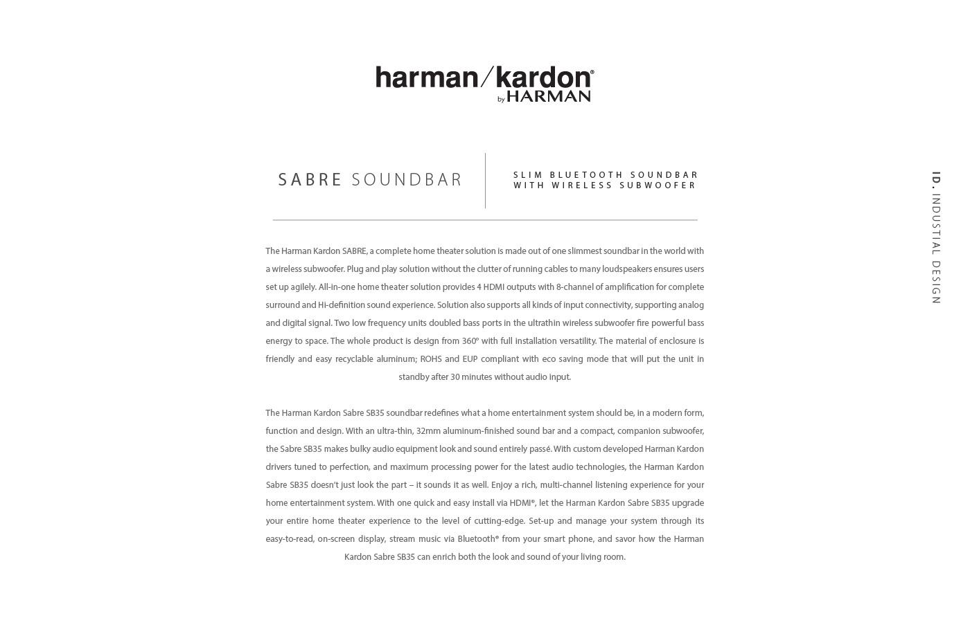 Harman Kardon SABRE on Behance