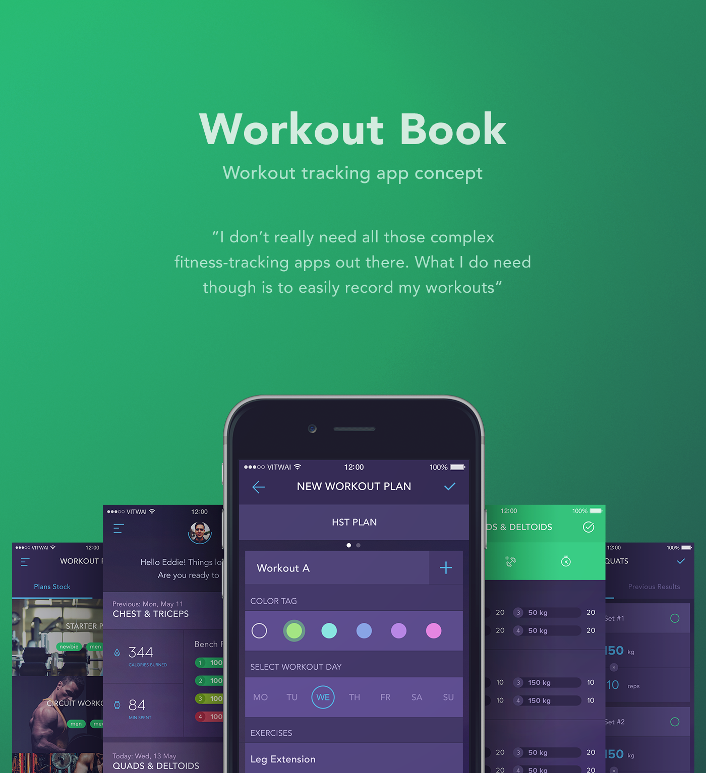 Workout Book Tracking App Concept On Behance