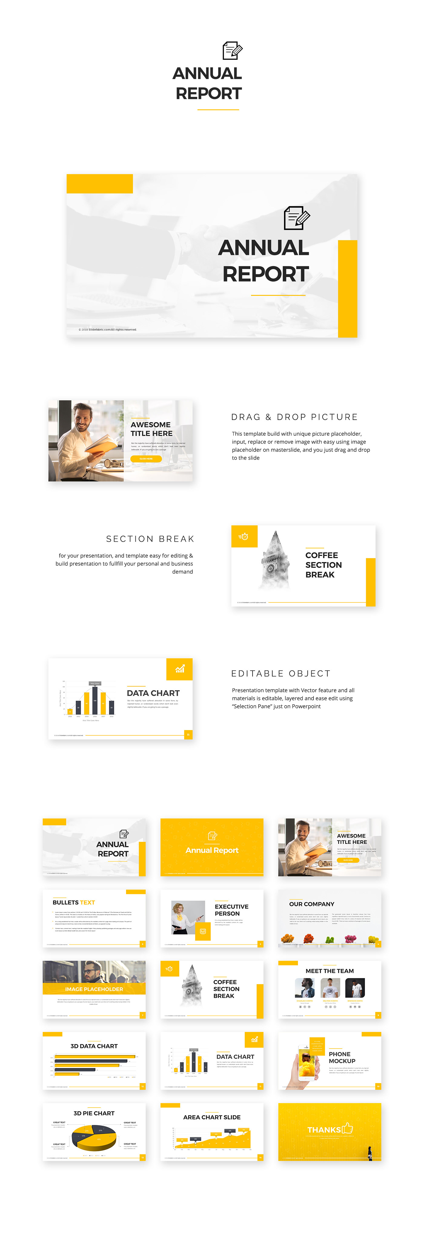 FREE POWERPOINT TEMPLATES | Annual Report on Behance