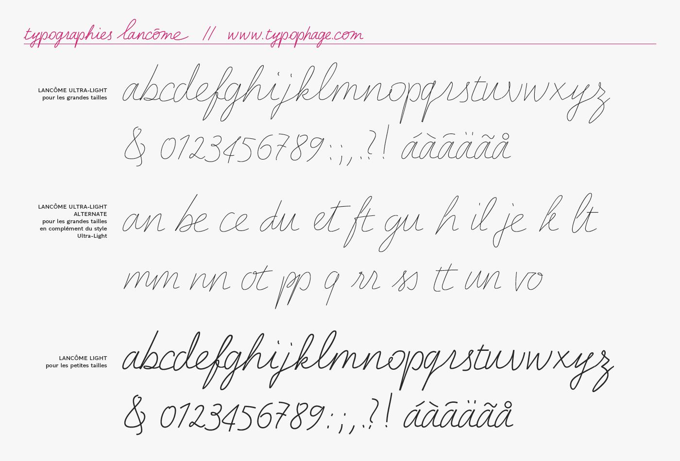 Lancôme Bespoke Fonts on Behance