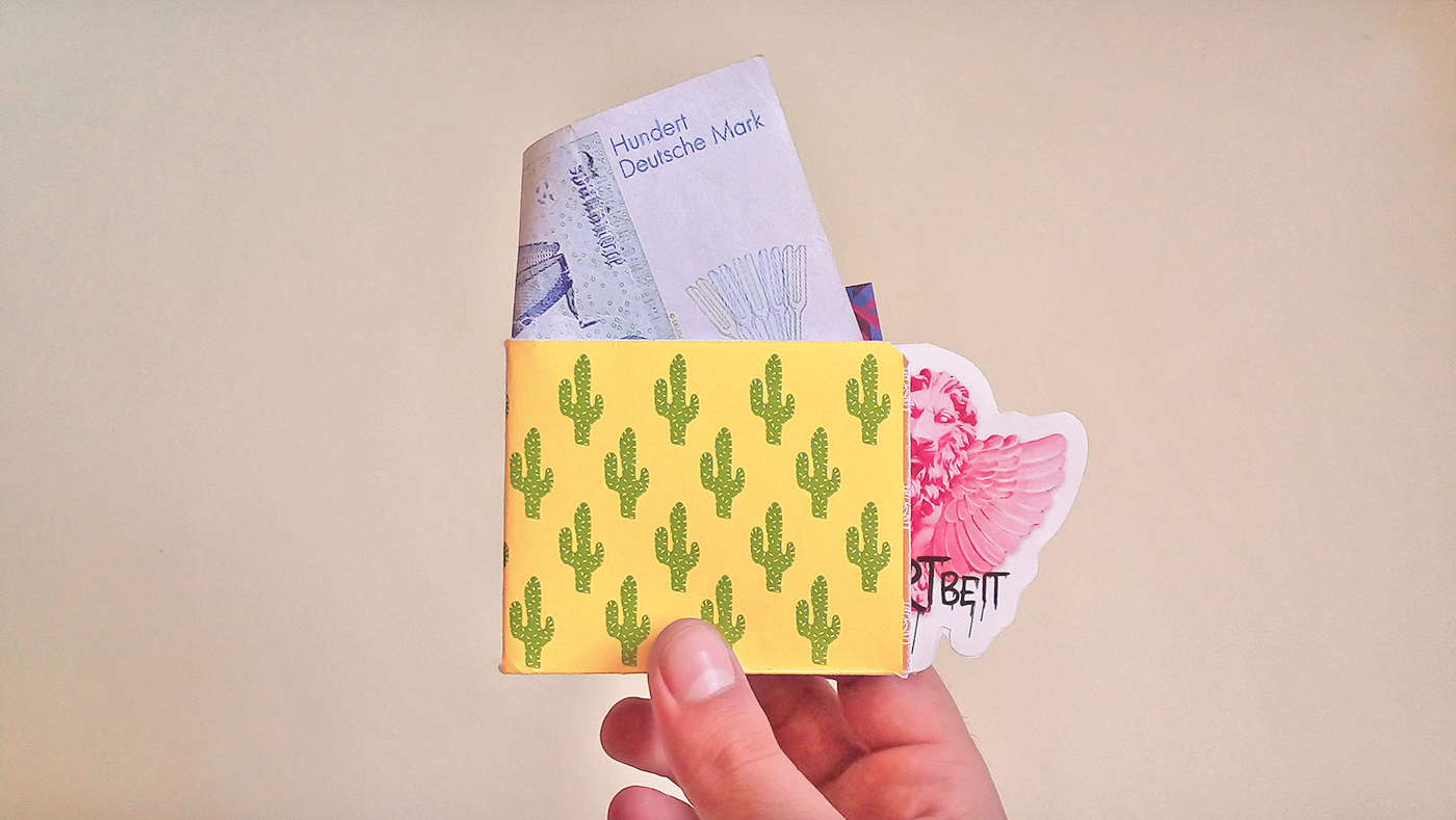 Tyvek paper wallet template on behance malvernweather Images