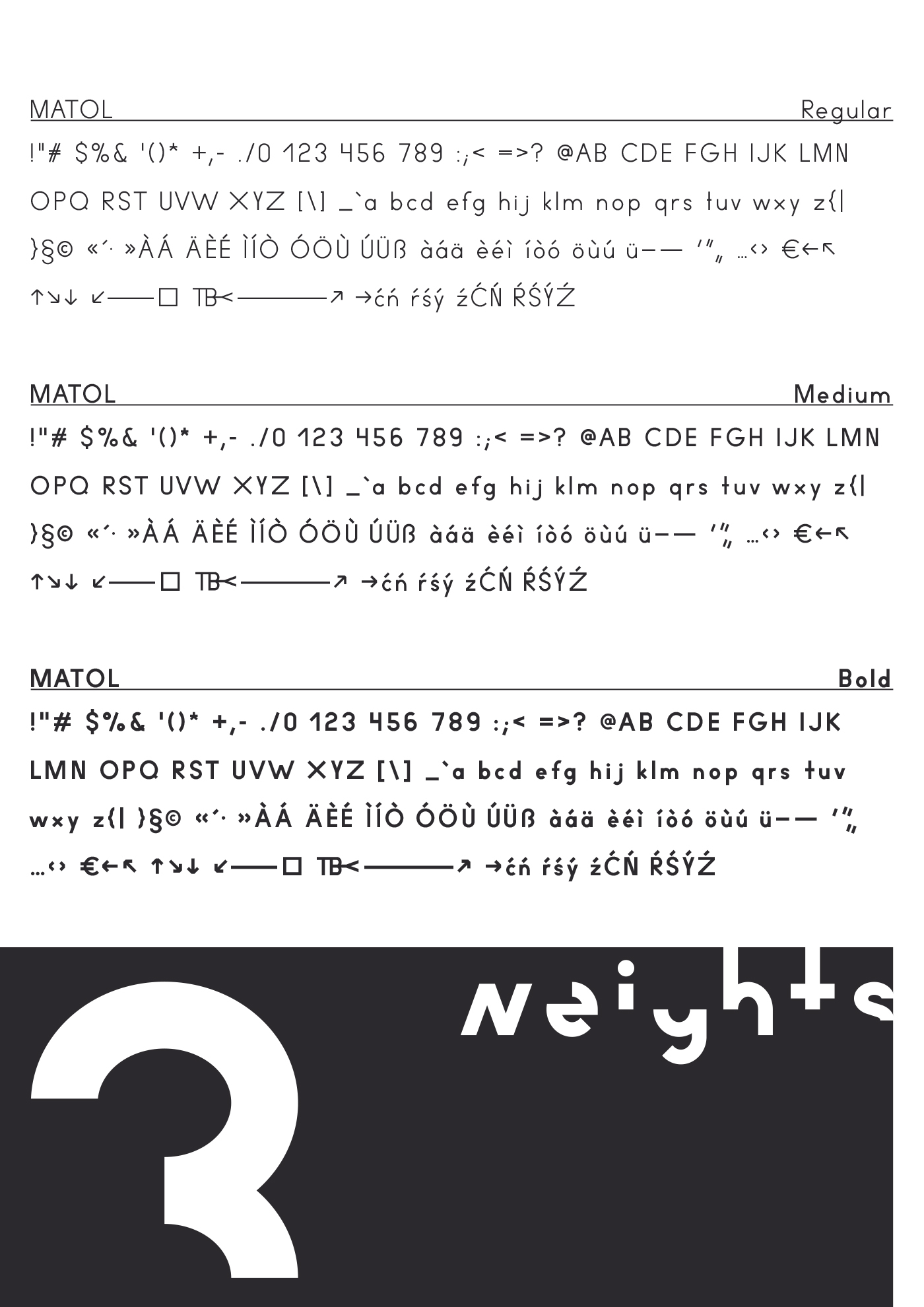 MATOL A FREE FONT IN 6 STYLES On Behance