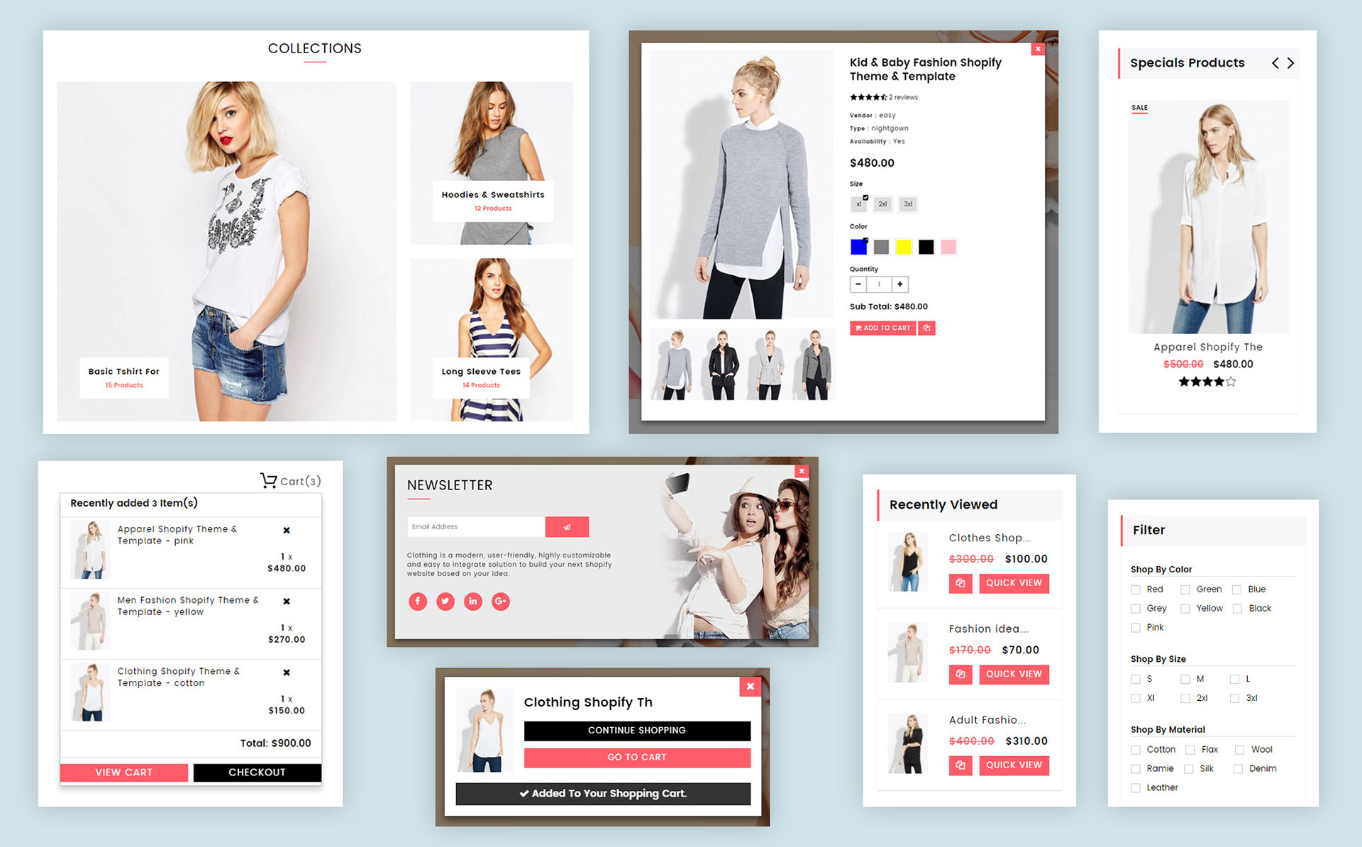 Clothing - Fashion Drag & Drop Sections Shopify theme on Behance