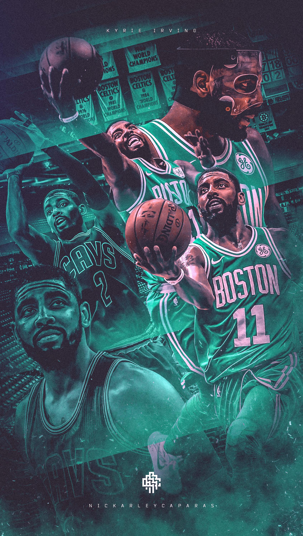 Nba Art Kyrie Irving Celticscavaliers Wallpaper On Behance