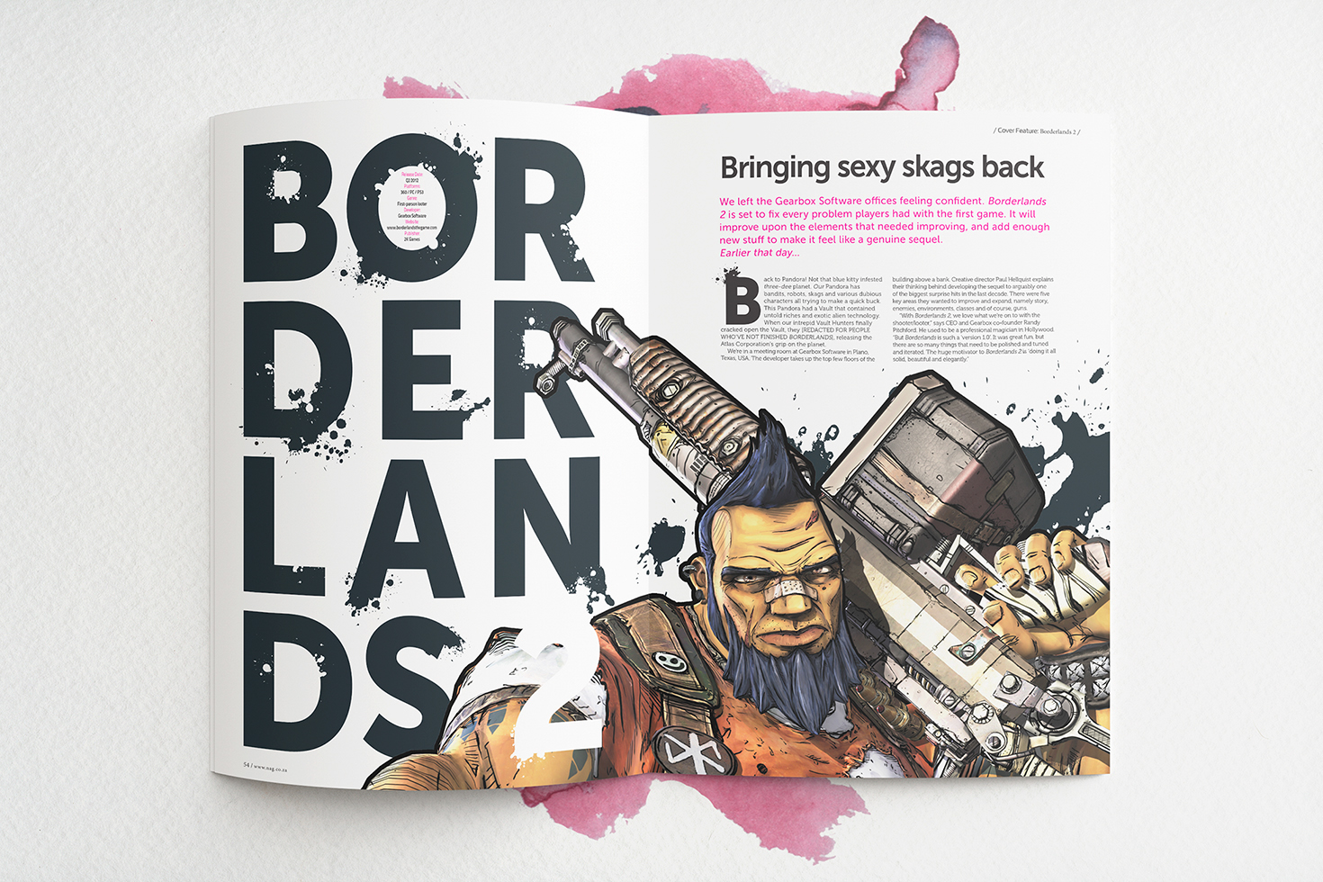 Borderlands 2 Feature / NAG Magazine on Behance