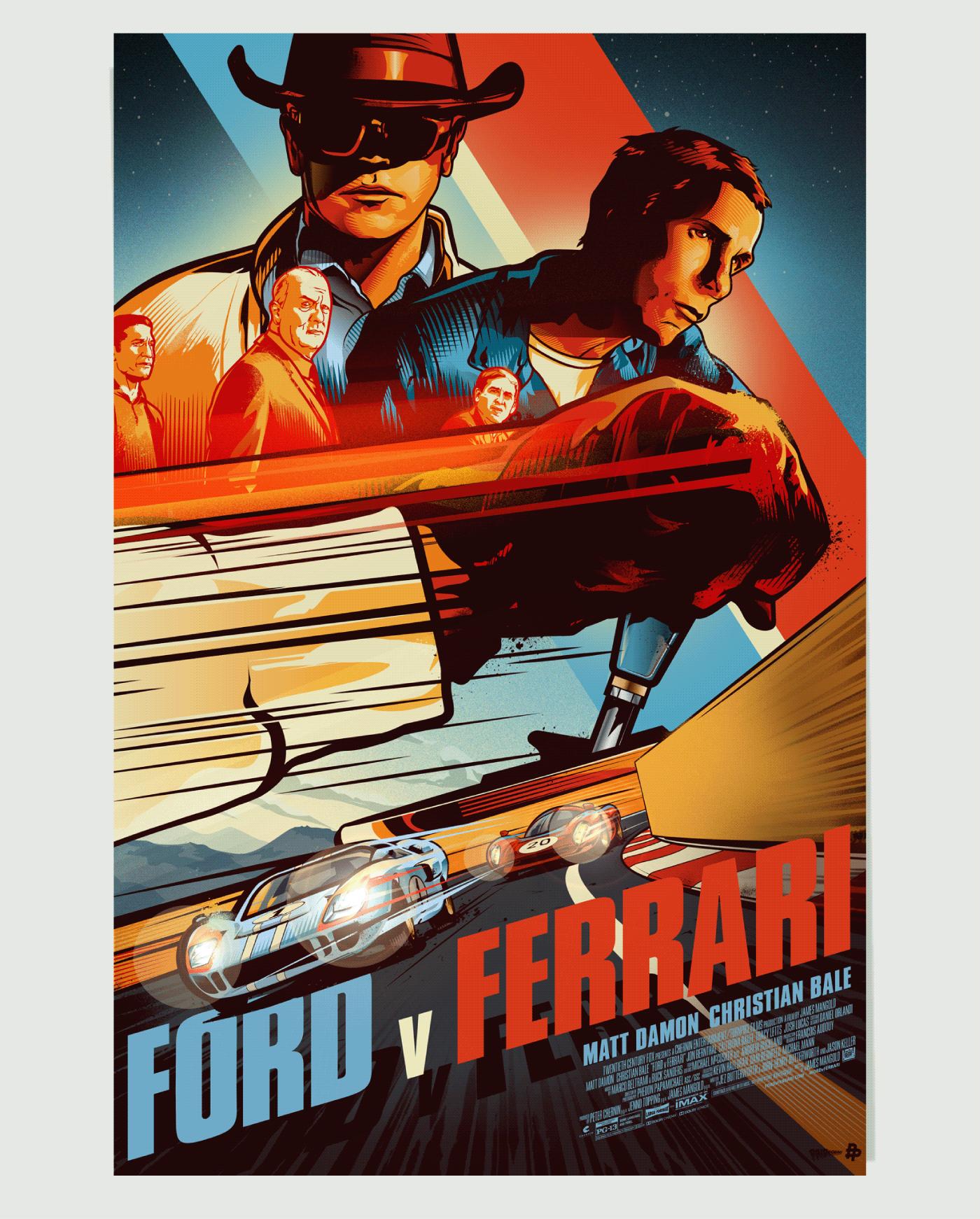 Ford V Ferrari Poster Art On Behance