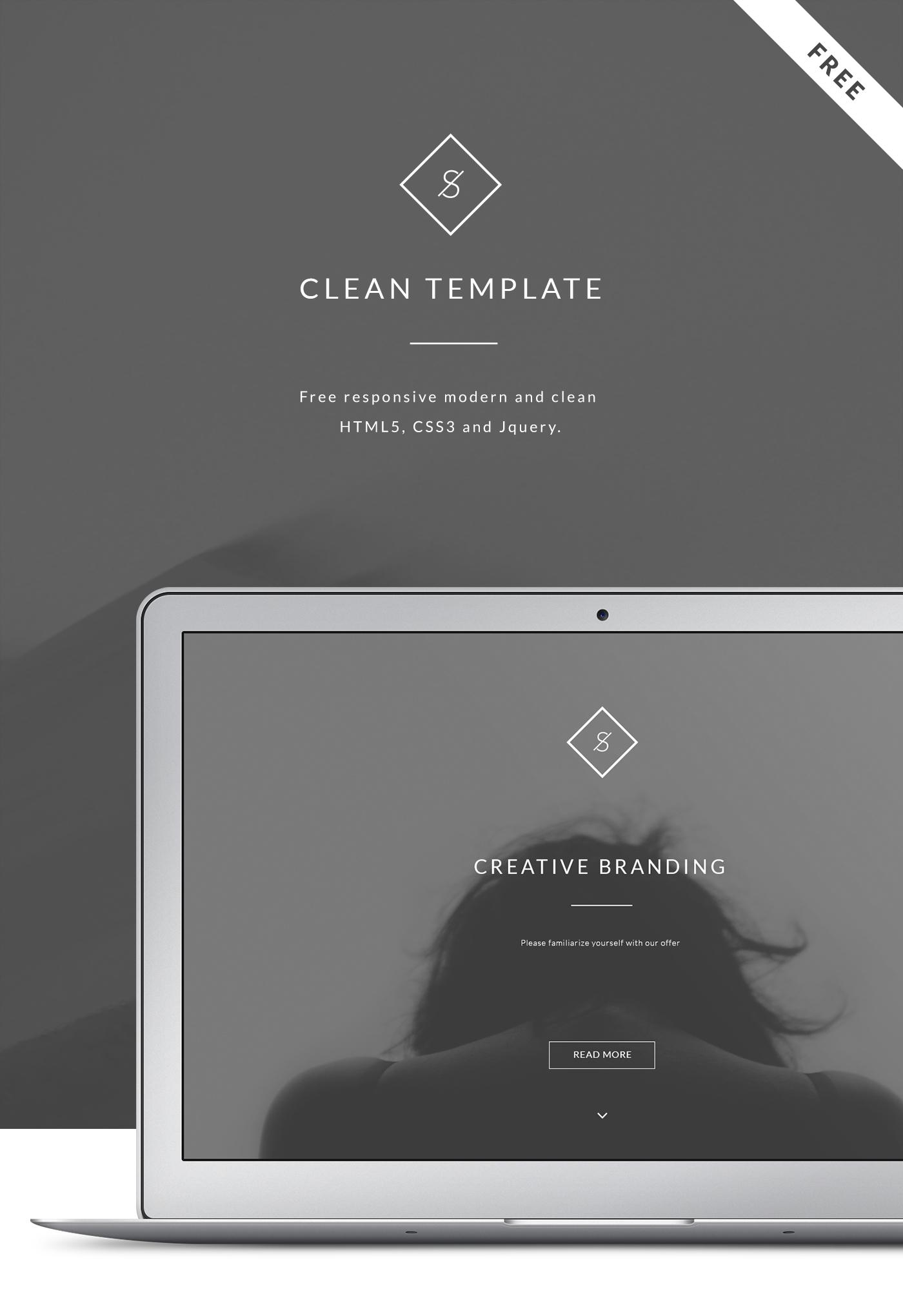 Free Landing Website Clean Theme Behance Api Psd On