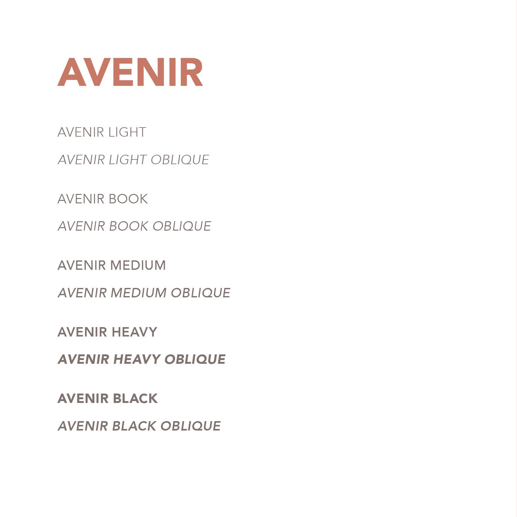 Avenir Font Face Book on Behance