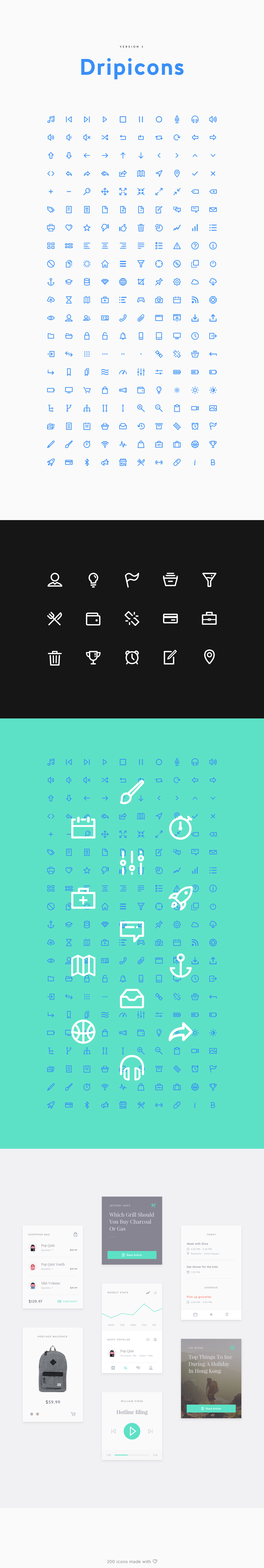 Dripicons V2 (Free Iconset) - SVG, Webfont, PSD, Sketch on Behance