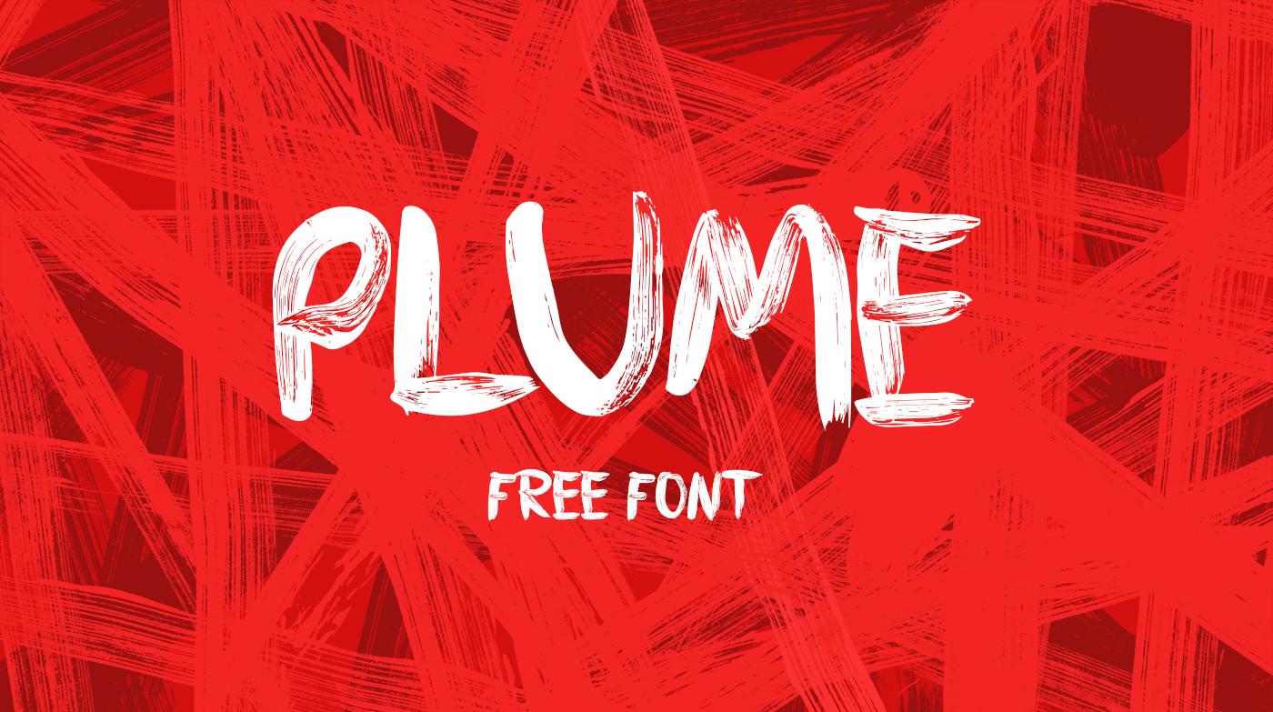 PLUME - Free Brush Font on Behance