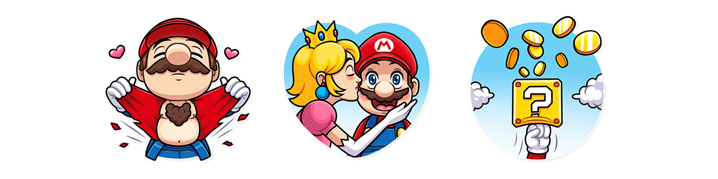 SUPER MARIO  Telegram Stickers — 2018 on Behance