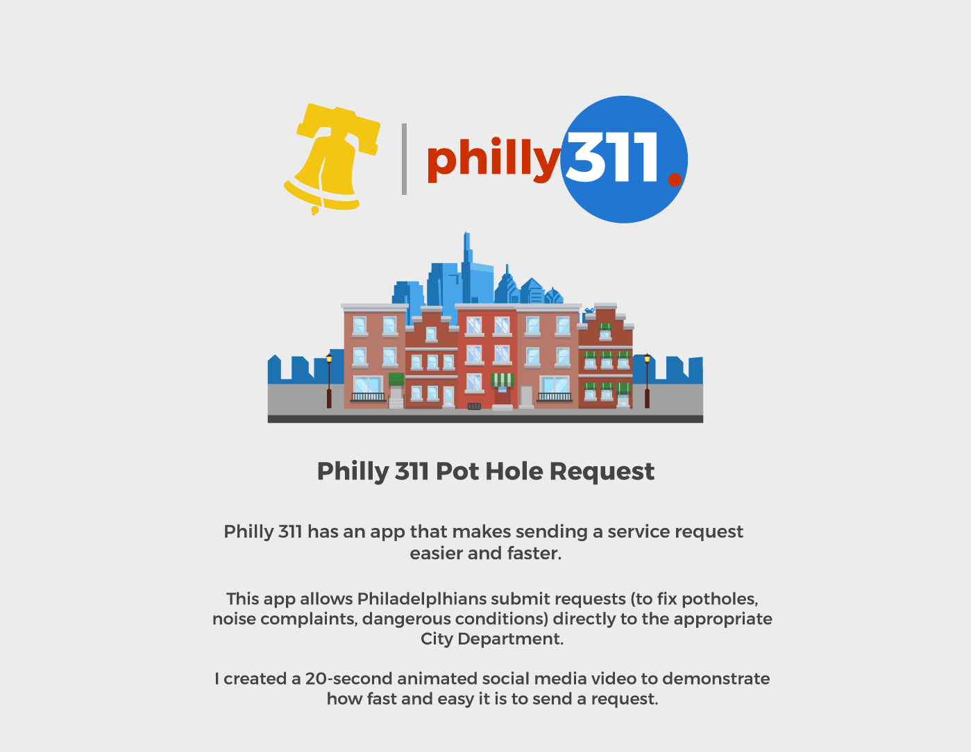 Philly311 Social Media Video On Behance