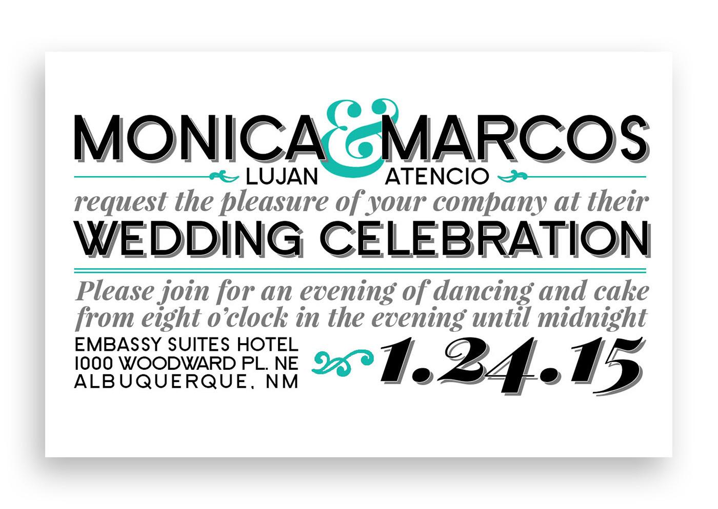 Typography Wedding Invitations on Behance