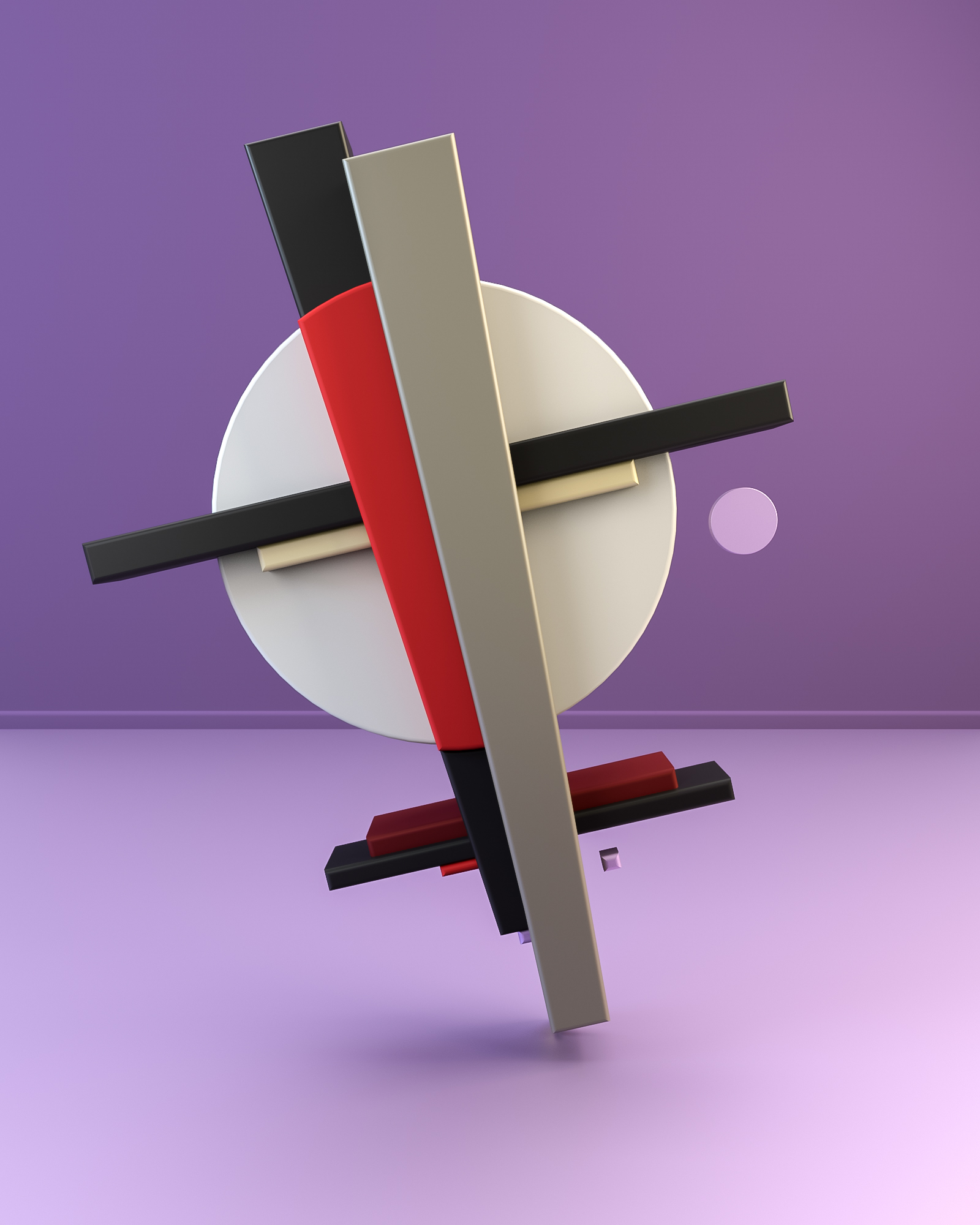Rendering Digital Art Suprematism Constructivism - 3d rendered experimental artworks