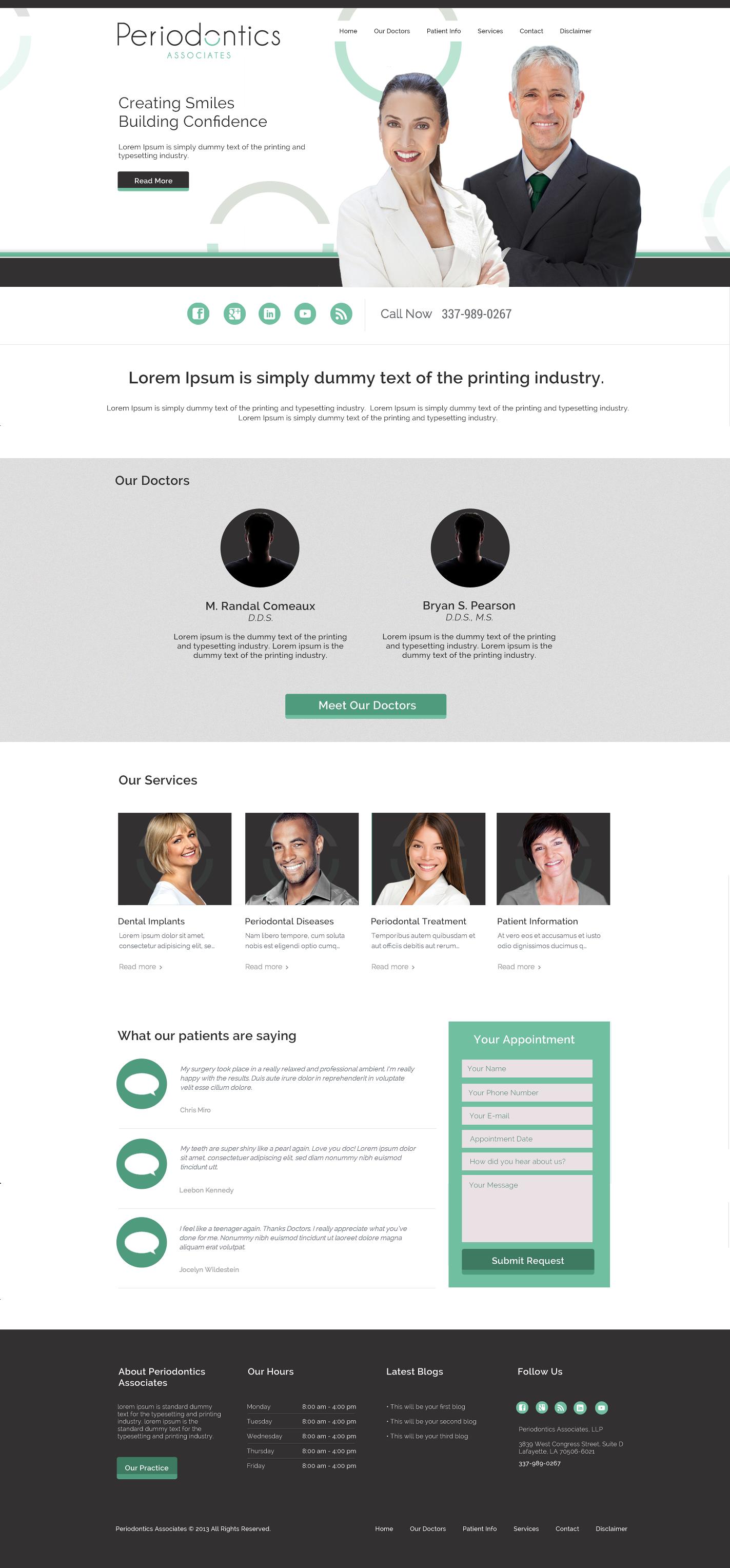 Dentist 4 Website Design On Behance