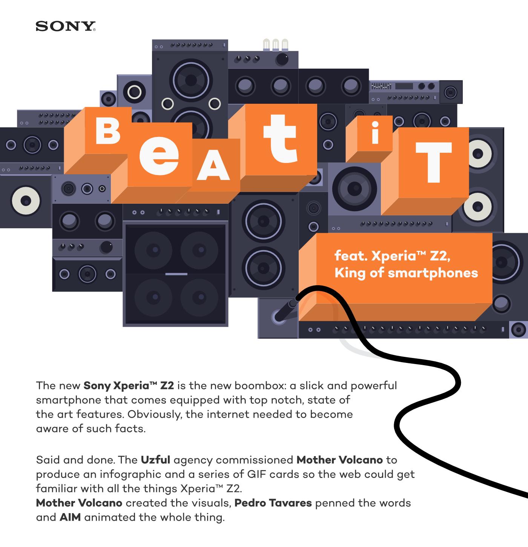 Sony Xperia™ Z2 — Beat It on Behance