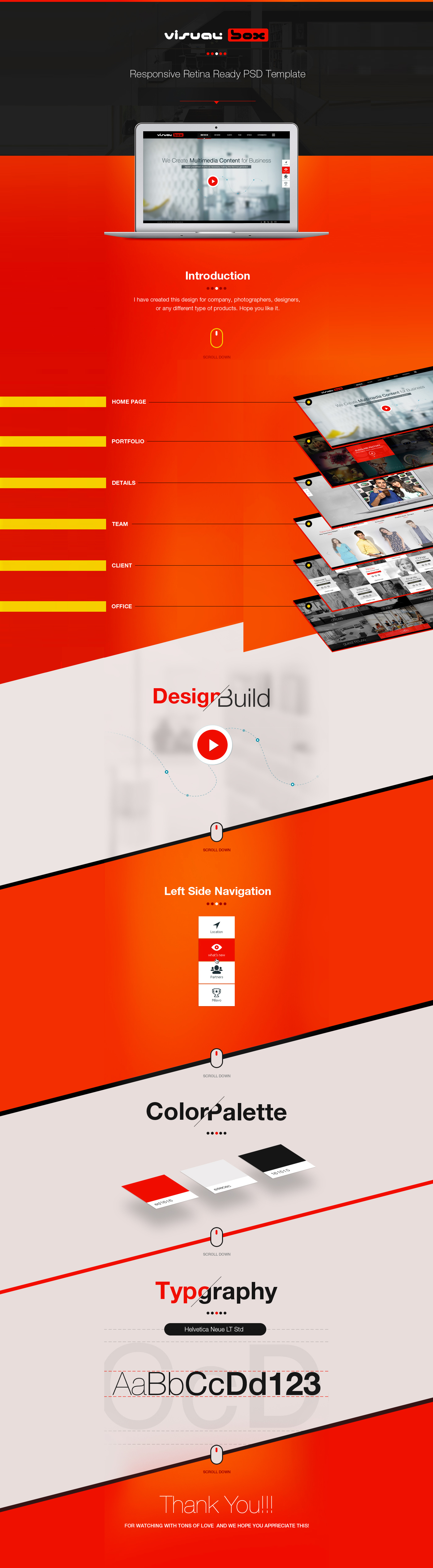 free psd template visual box on behance