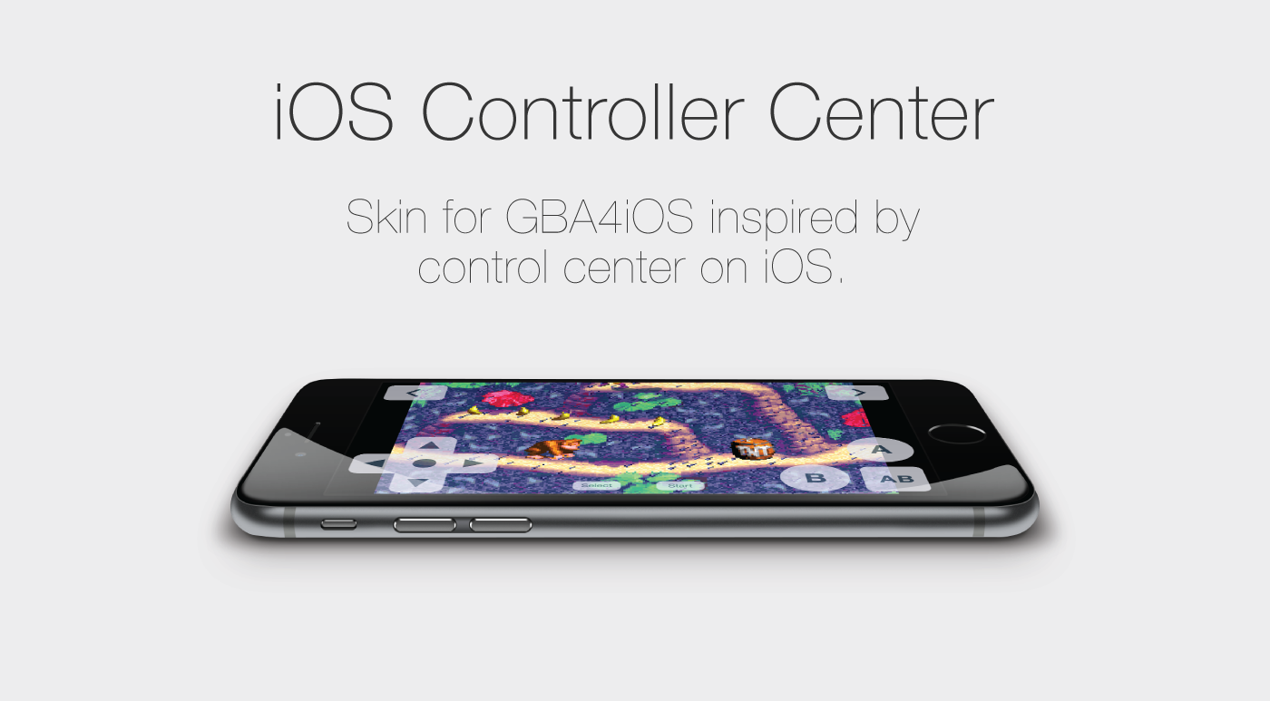 iOS Controller Center for GBA4iOS on Behance