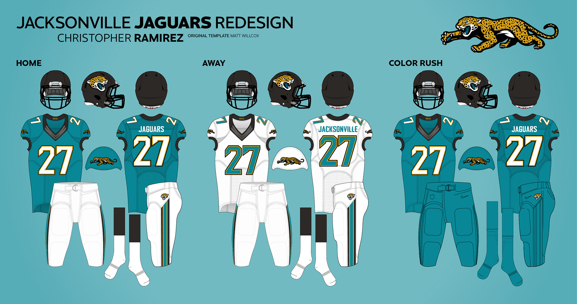 283e536cddb Jacksonville Jaguars Redesign on Behance