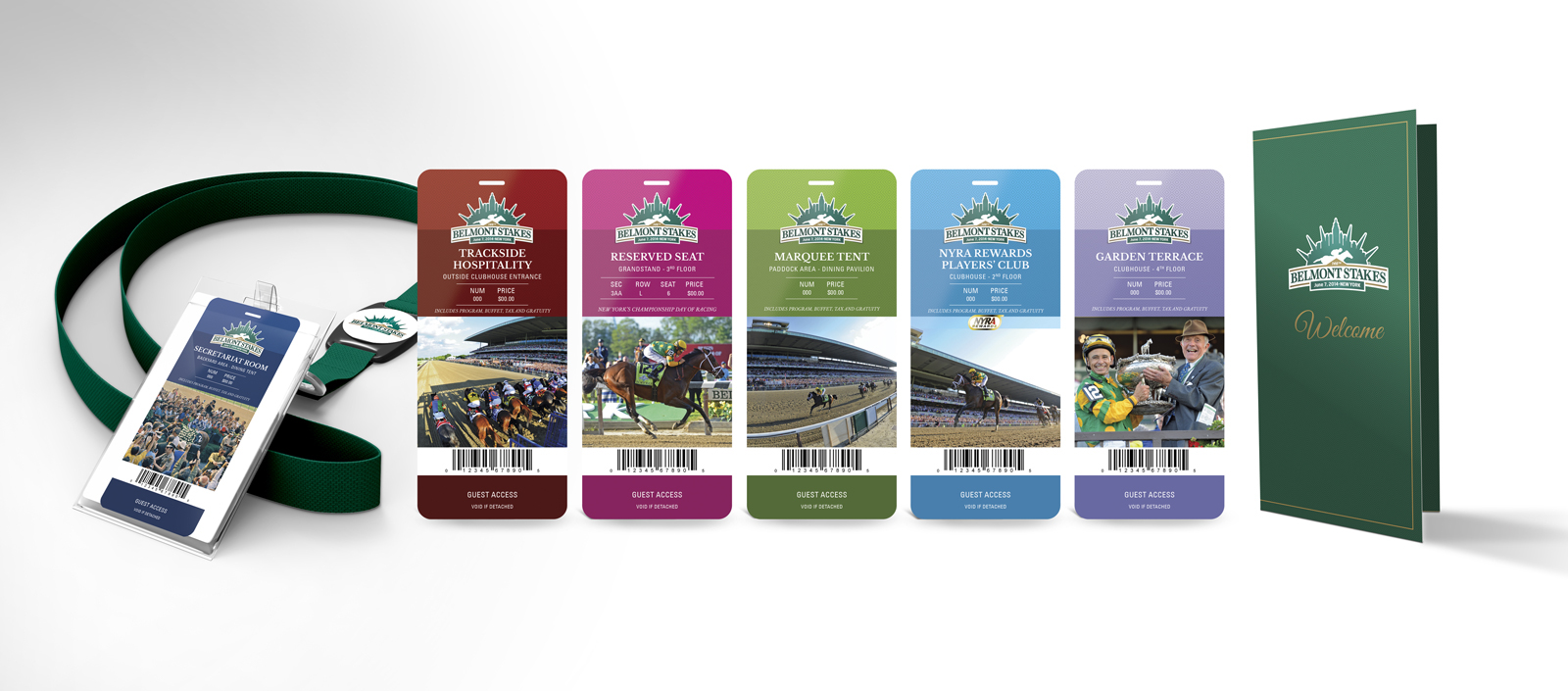 Belmont Stakes ticket design