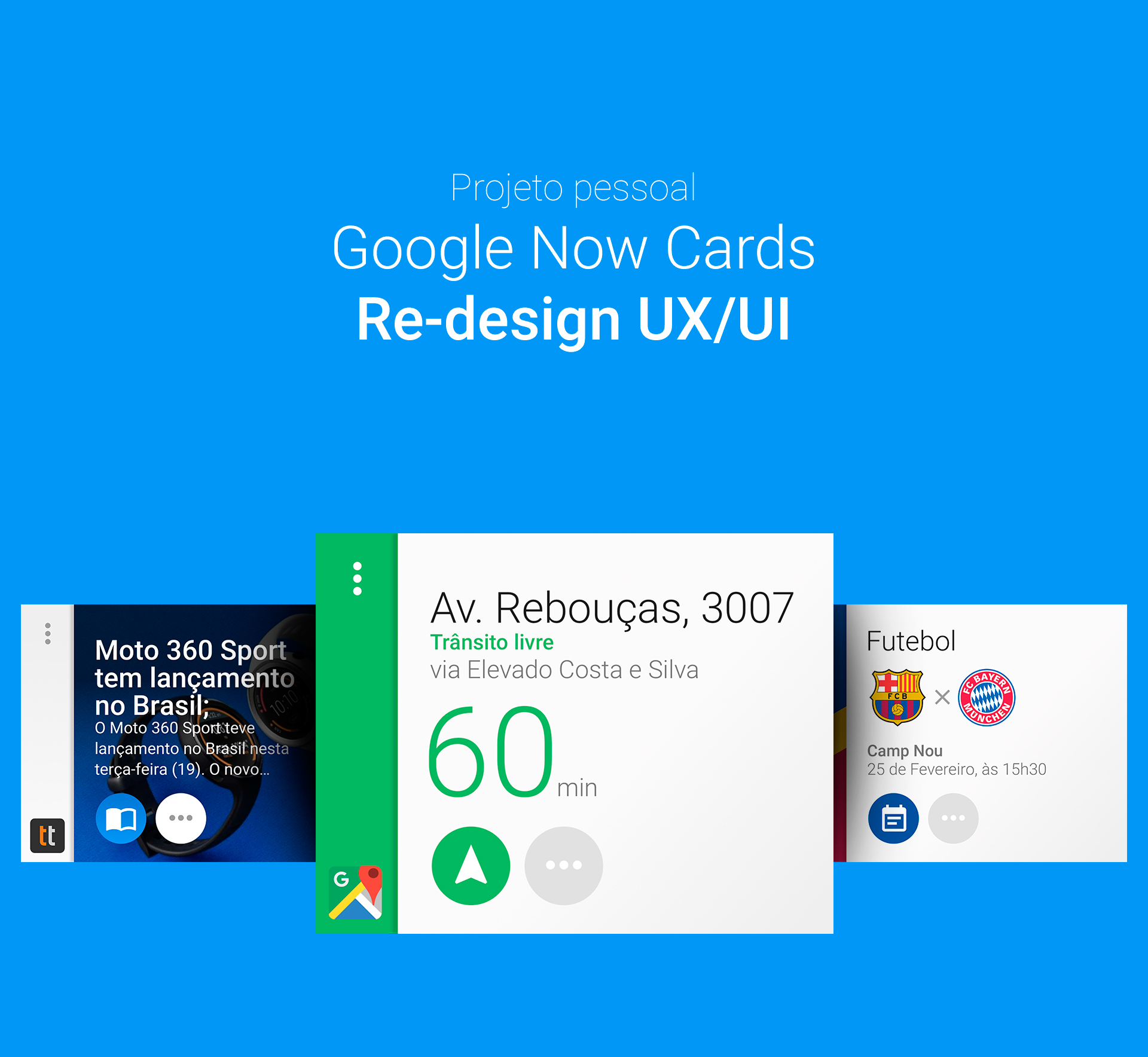 Google Now Cards - Re-design (UX/UI) on Behance