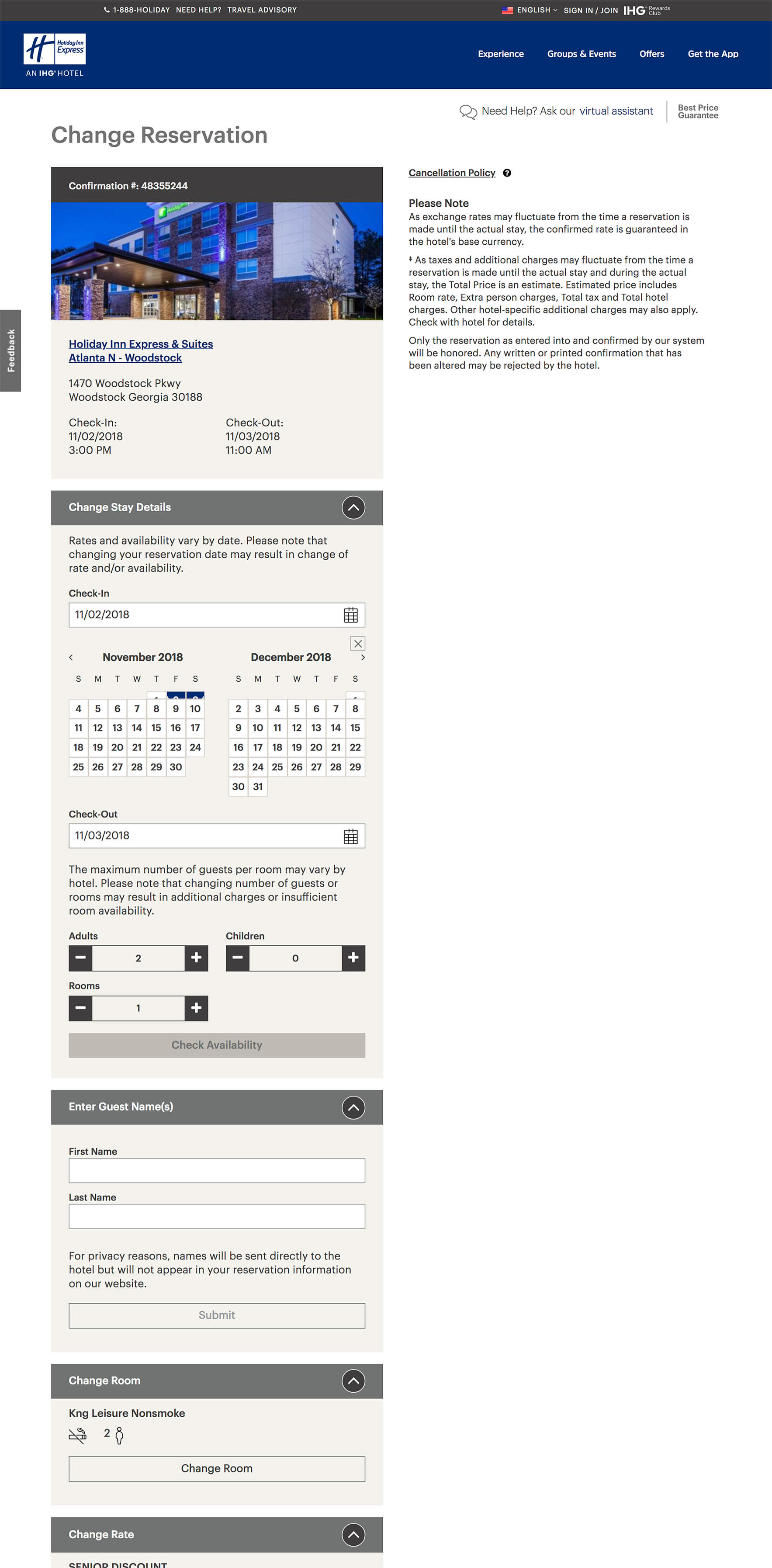 Modify a Reservation - Responsive Booking Flow on Behance