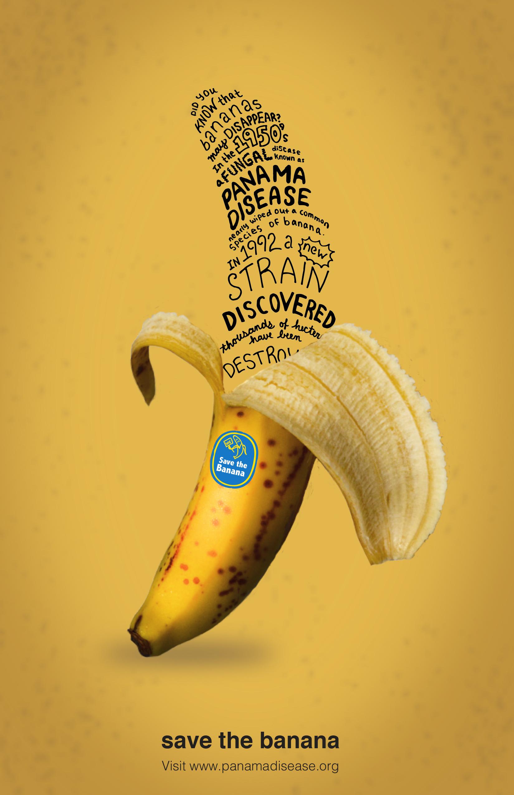 rebecca drexler save the banana typographic poster