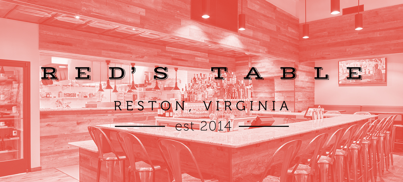 Reds Table Identity On Behance - Red's table reston virginia