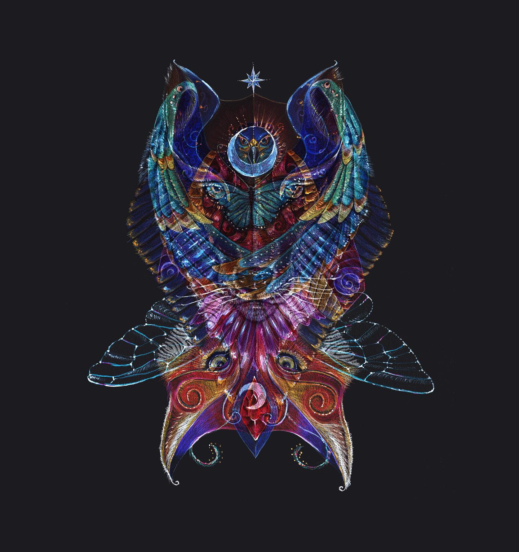 Picture of The Totem Entity, digital art by Jennifer Hawkyard
