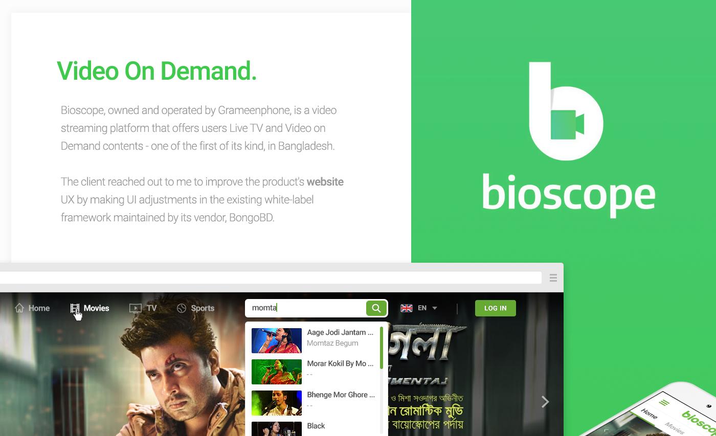 Bioscope - Website on Behance