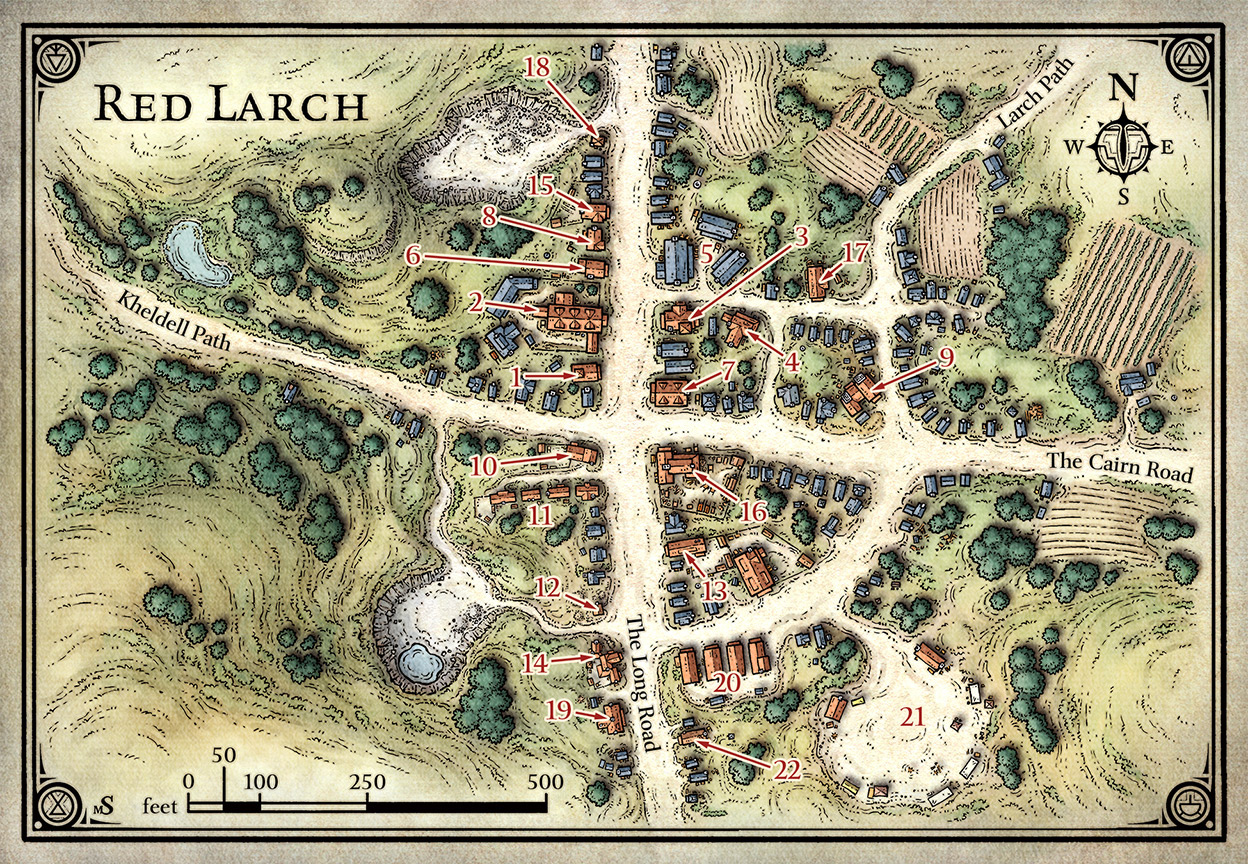 Red Larch Map