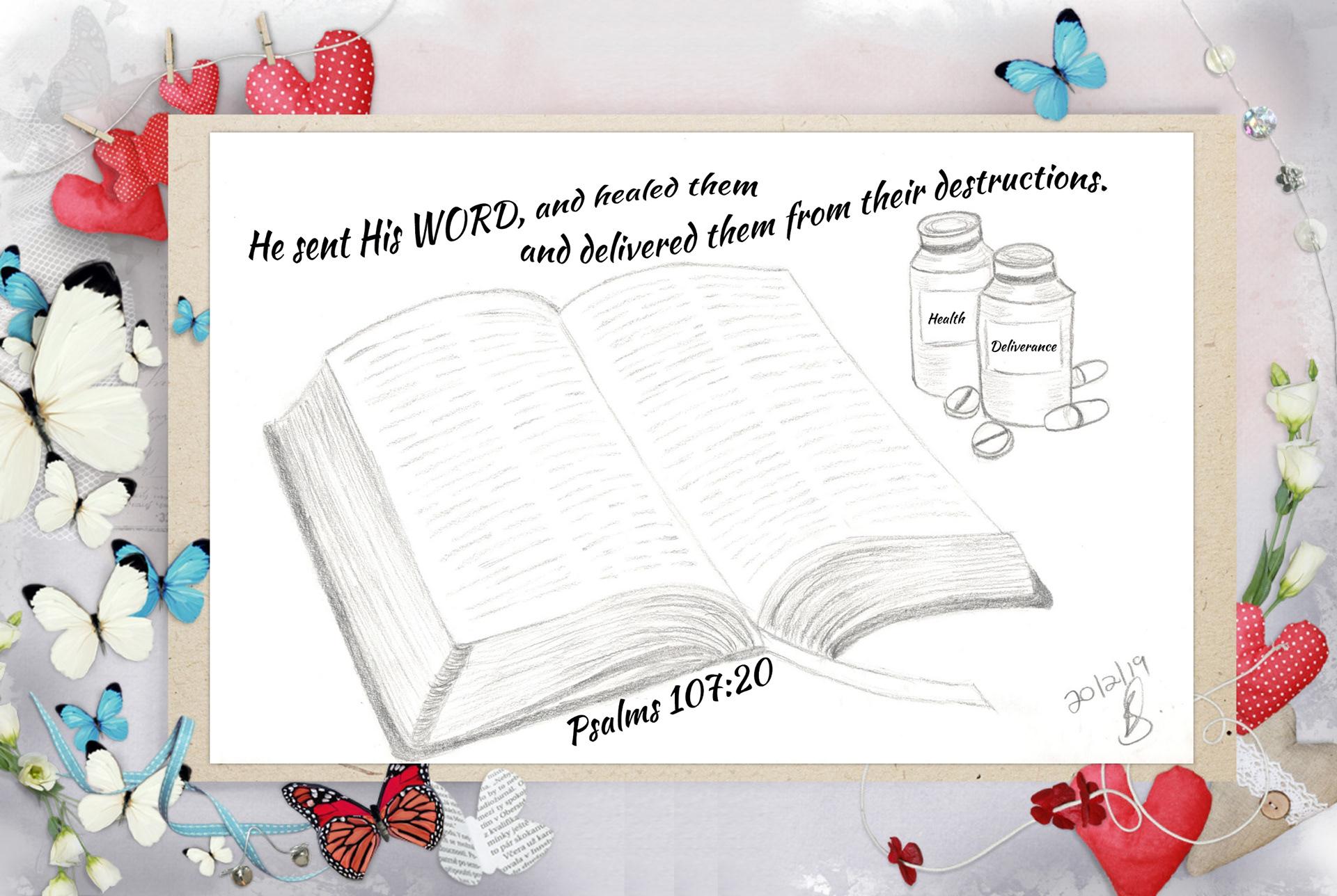 Psalm 107:20 on Behance