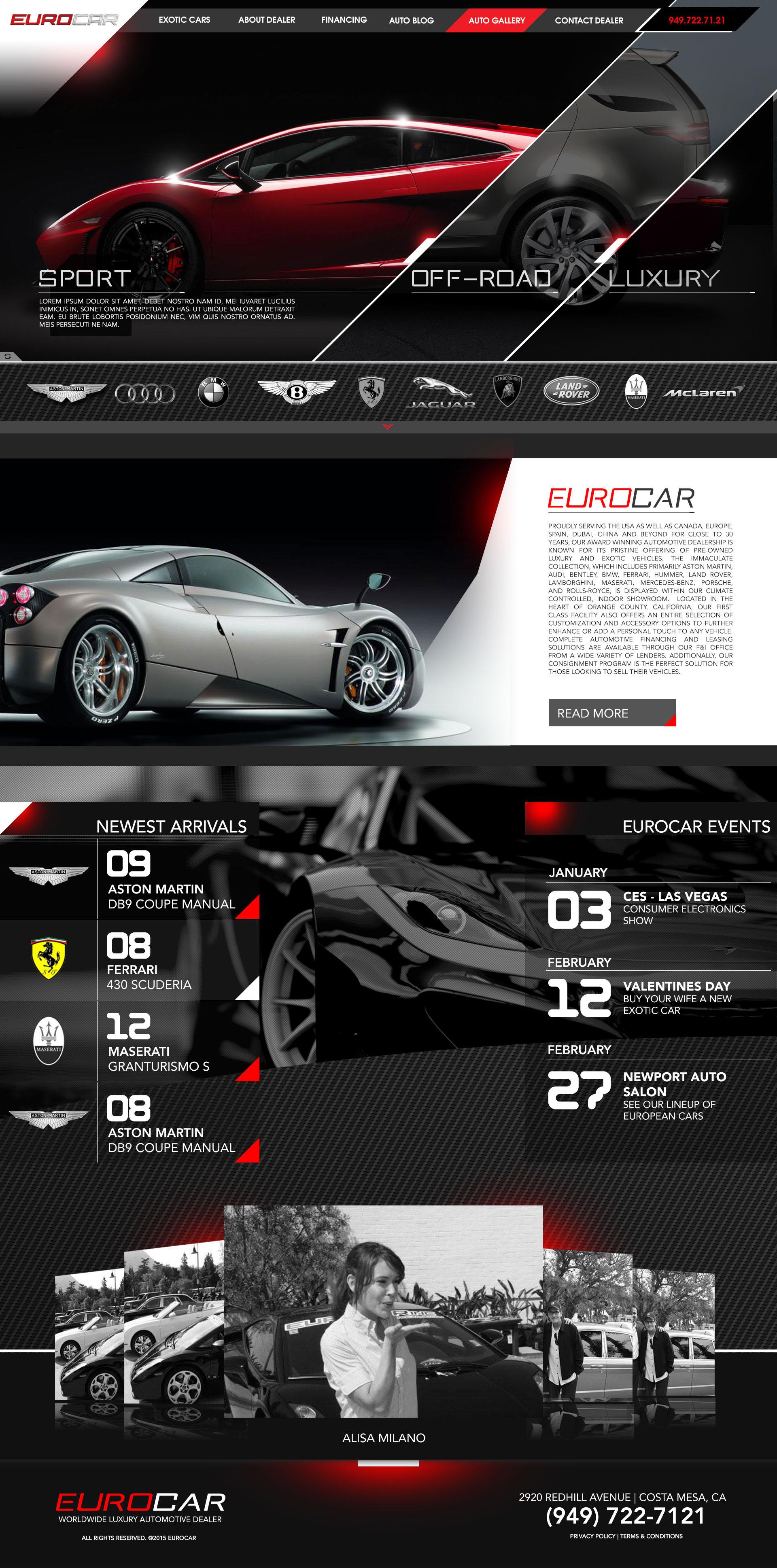 Ryan Carandang Eurocar Website Design