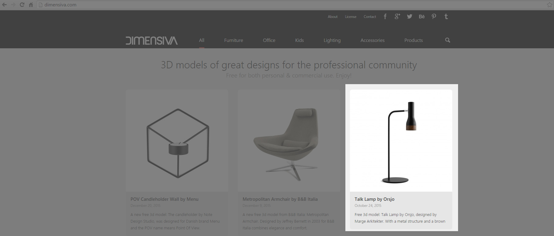 FREE 3D Model - Örsjö Talk Lamp Series on Behance