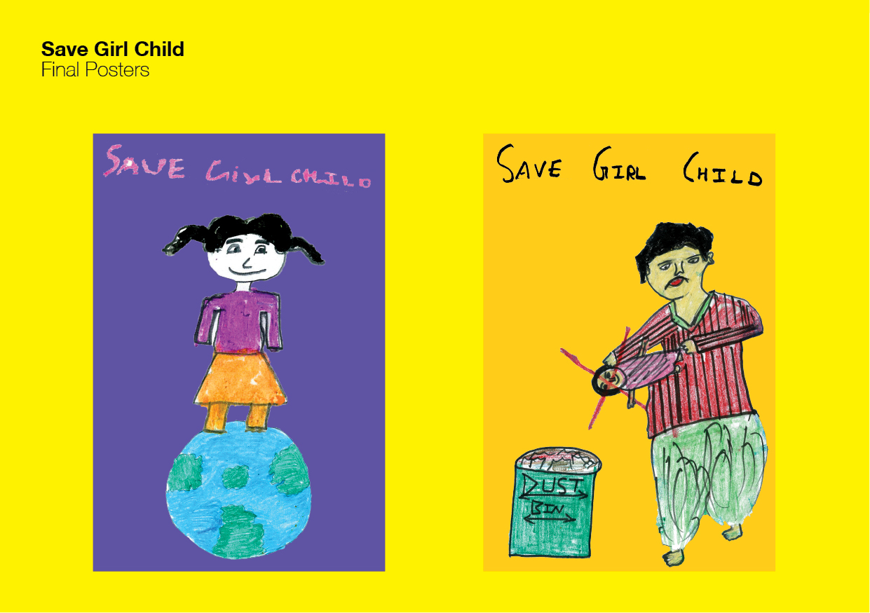 Save Girl Child | Spread Girl Education on Behance